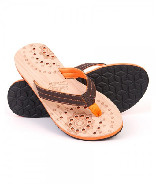 Zohula Hoku Orange Flip Flops 01