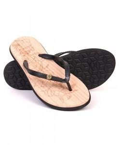 Zohula Ola Black Flip Flops