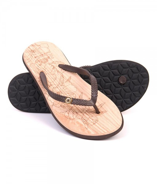 Zohula Ola Chocolate Flip Flops