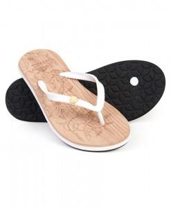 Zohula Ola White Flip Flops
