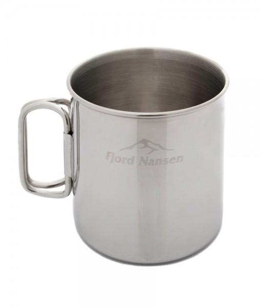 Brann Silver Stainless Steel Mug Fjord Nansen K01