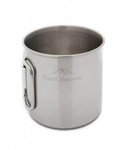 Brann Silver Stainless Steel Mug Fjord Nansen K02