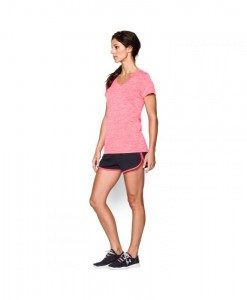 T-Shirt en V Under Armour Twist Tech Femme 683 F03