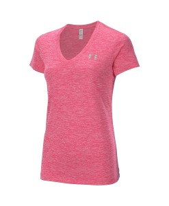 T-Shirt en V Under Armour Twist Tech Femme 683 F05