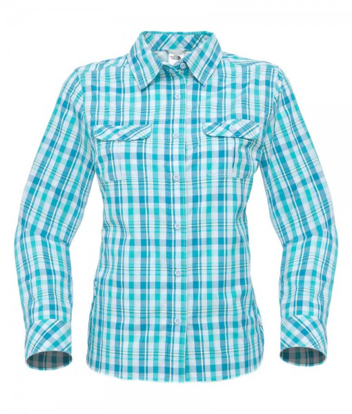 The North Face Boulder Kassie Shirt Ion Blue Plaid D03