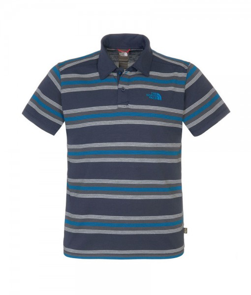 The North Face Mens Hike Polo Shirt Cosmic Blue T02