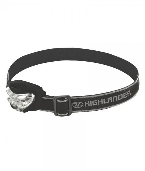 Lampe frontale Highlander Vision 3 LED Black