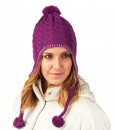 The North Face Fuzzy Earflap-Beanie Premiere Purple F03