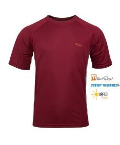 T-Shirt-Caxa-Cleanfire-Burgundy-TECH