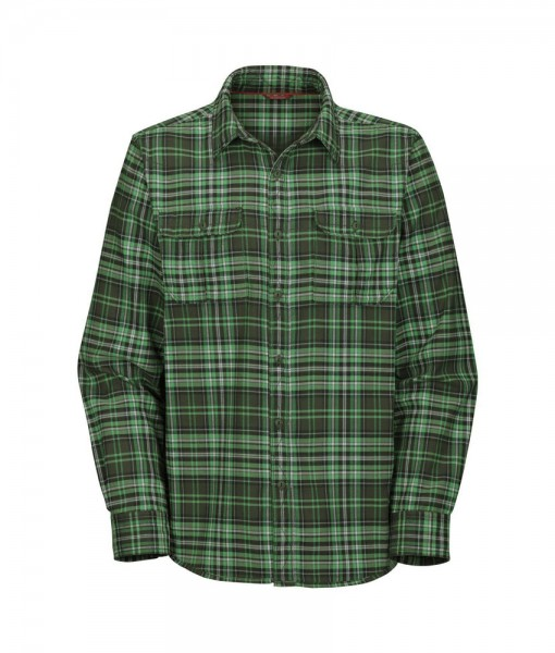 The North Face LS Grizzly Lake Flannel Fig Green T01