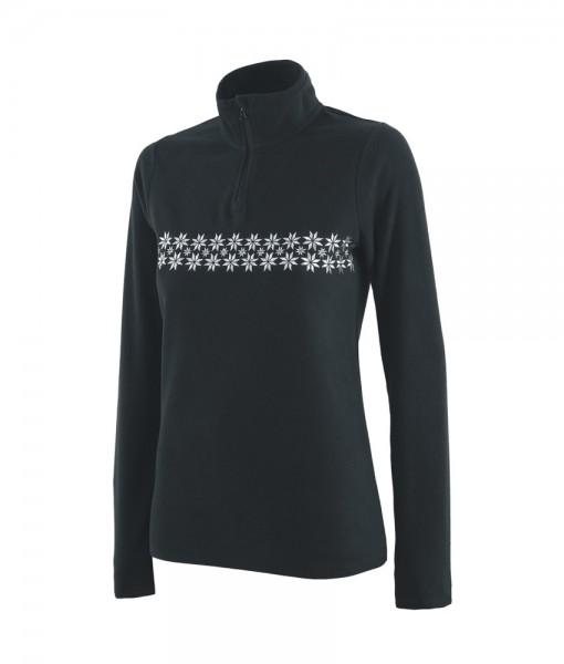 4F Microfleece Thermoactive Underwear Snowflakes Black C02