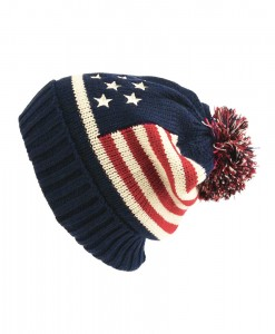 Bonnet Stars and Stripes Beanie Hat Vintage Navy