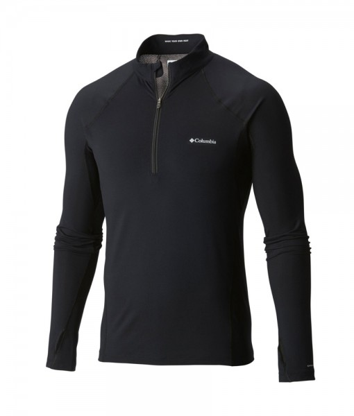 Columbia Mens Baselayer Midweight LS 1-2 Zip C02