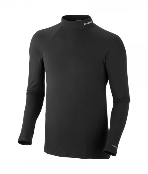 Columbia Mens Baselayer Midweight Mock Neck LS C02