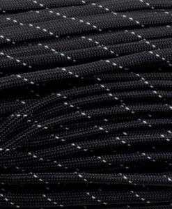 Paracord 550 Type III Black White Dots