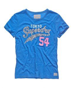 Superdry Tokyo 54 T-Shirt Royal Blue Marl