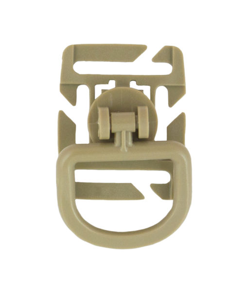 Tactical Teddy Boucle 360 Rotation D-Ring Clips MOLLE Coyote