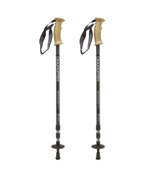 Bâtons de marche Craghoppers Adventure Shock Absorber 2PK Black Ashen