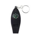 Porte-Clés Multi-fonctions Sifflet Boussole Thermomètre Loupe