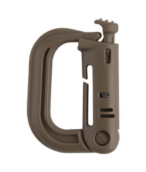 Tactical Teddy D-Ring Push Lock AAF Brown
