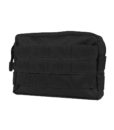 Tactical Teddy Horizontal Pouch 7 Black Pochette MOLLE multi-usages
