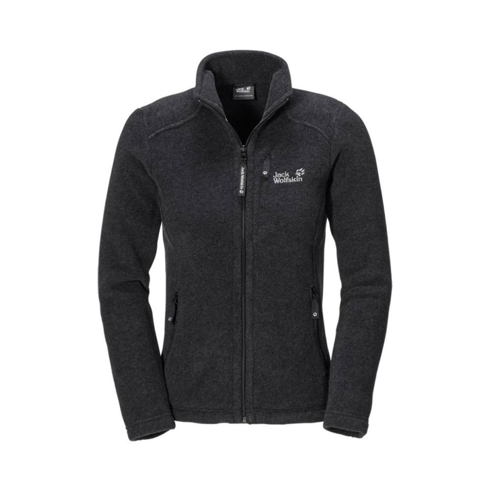 jack wolfskin klondike fleece jacket femme graphite. Black Bedroom Furniture Sets. Home Design Ideas