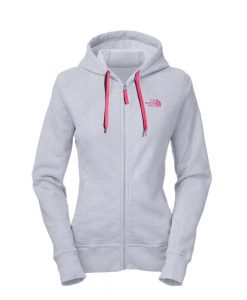 The North Face Original FZ Hoodie W Heather Grey Pink