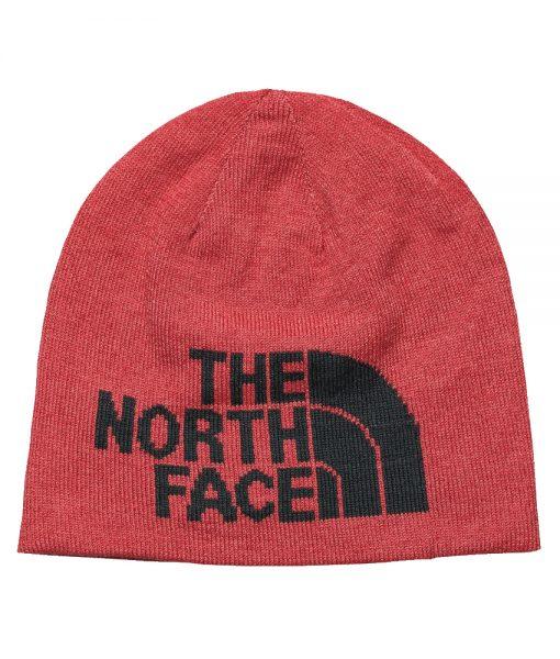 The North Face Highline Beanie Rambutan Pink Asphalt Grey T01