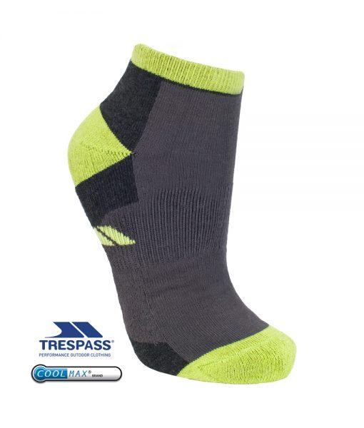 Trespass Inclined Mens Trainer Socks Kiwi