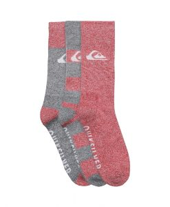 Chaussettes Quiksilver 06321T ACTIV Grey Red Hyper-Dry