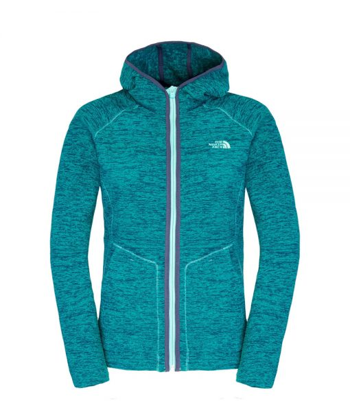 The North Face W Nikster FZ Hoody Grystnbl / Fnrgn