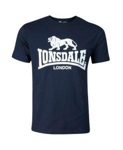 Lonsdale Logo T-Shirt Navy