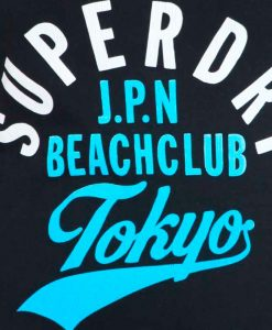 Superdry Beach Club Vee Eclipse Navy